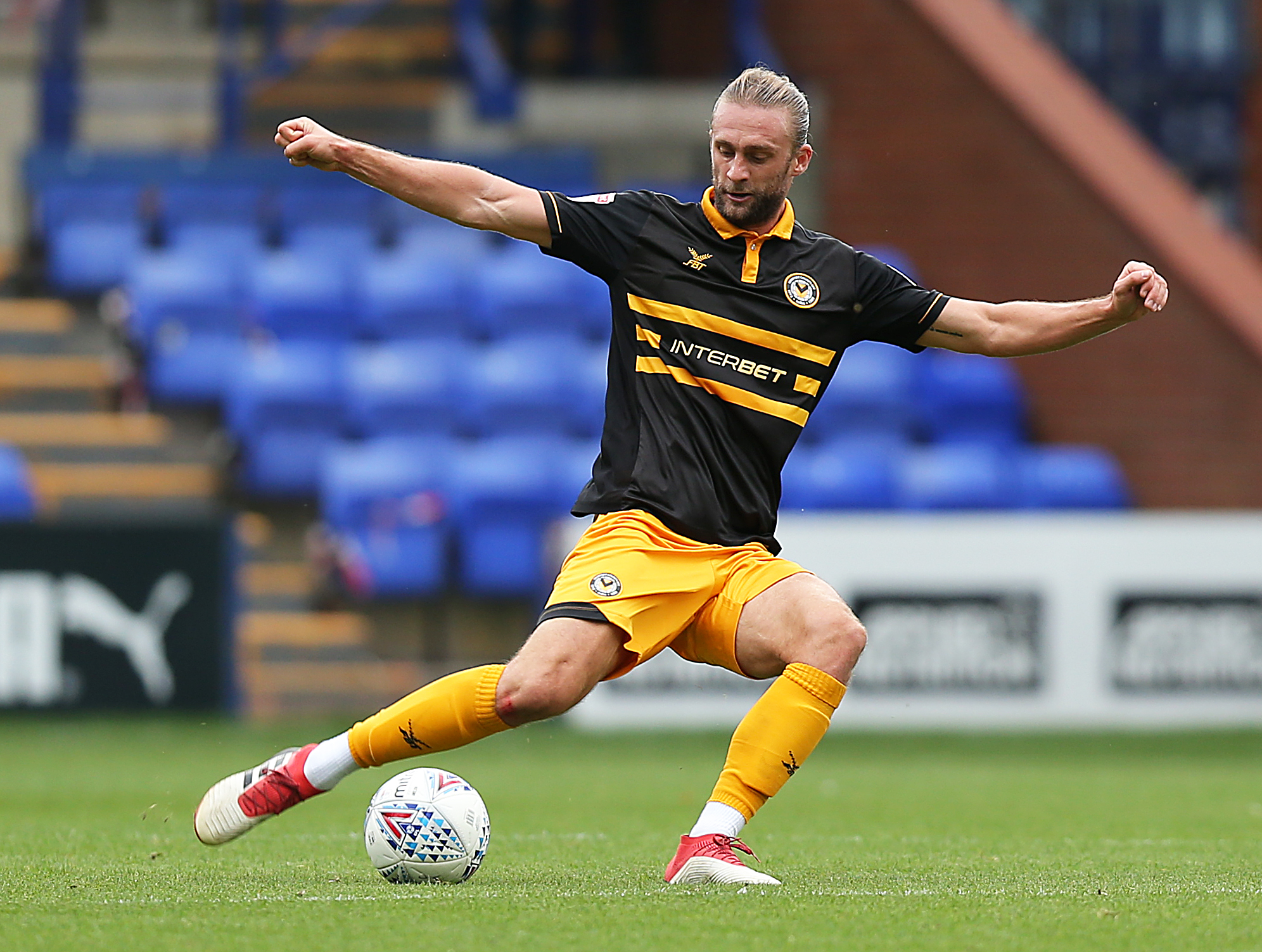 FOCUSED: Newport County defender Fraser Franks is targeting a top-three finish in League Two