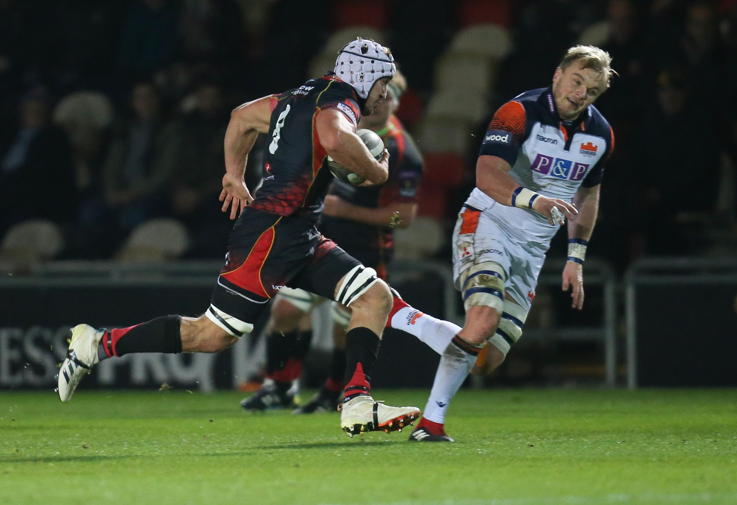 SENSATIONAL: Dragons back rower Ollie Griffiths