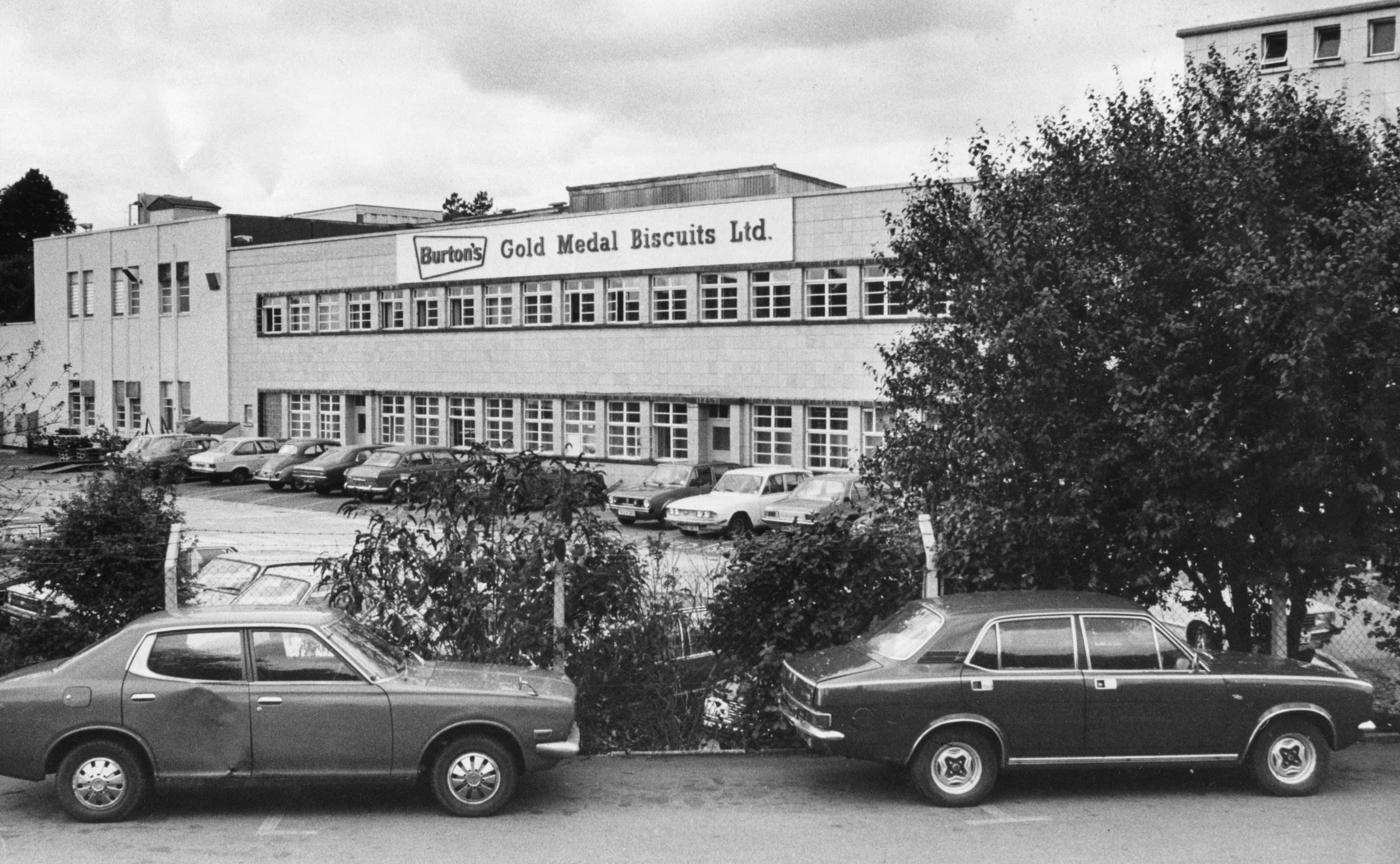 Burtons biscuits factory in Cwmbran in 1983