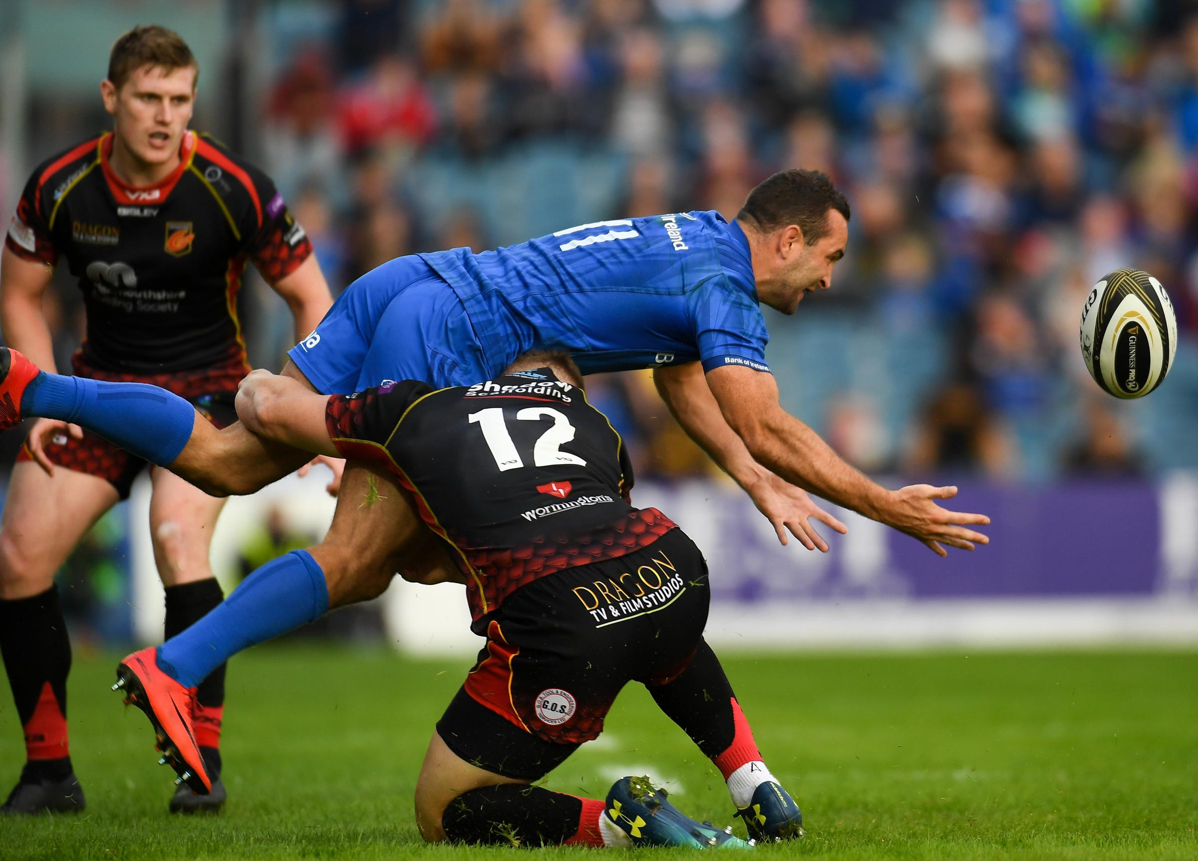 DANGEROUS: Leinster and Dave Kearney ran in seven tries when the Dragons headed to Dublin in September