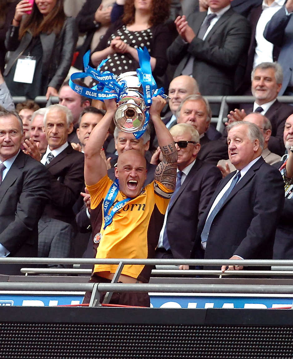 FLASHBACK: David Pipe captained Newport County to victory over Wrexham in the 2013 play-off final at Wembley