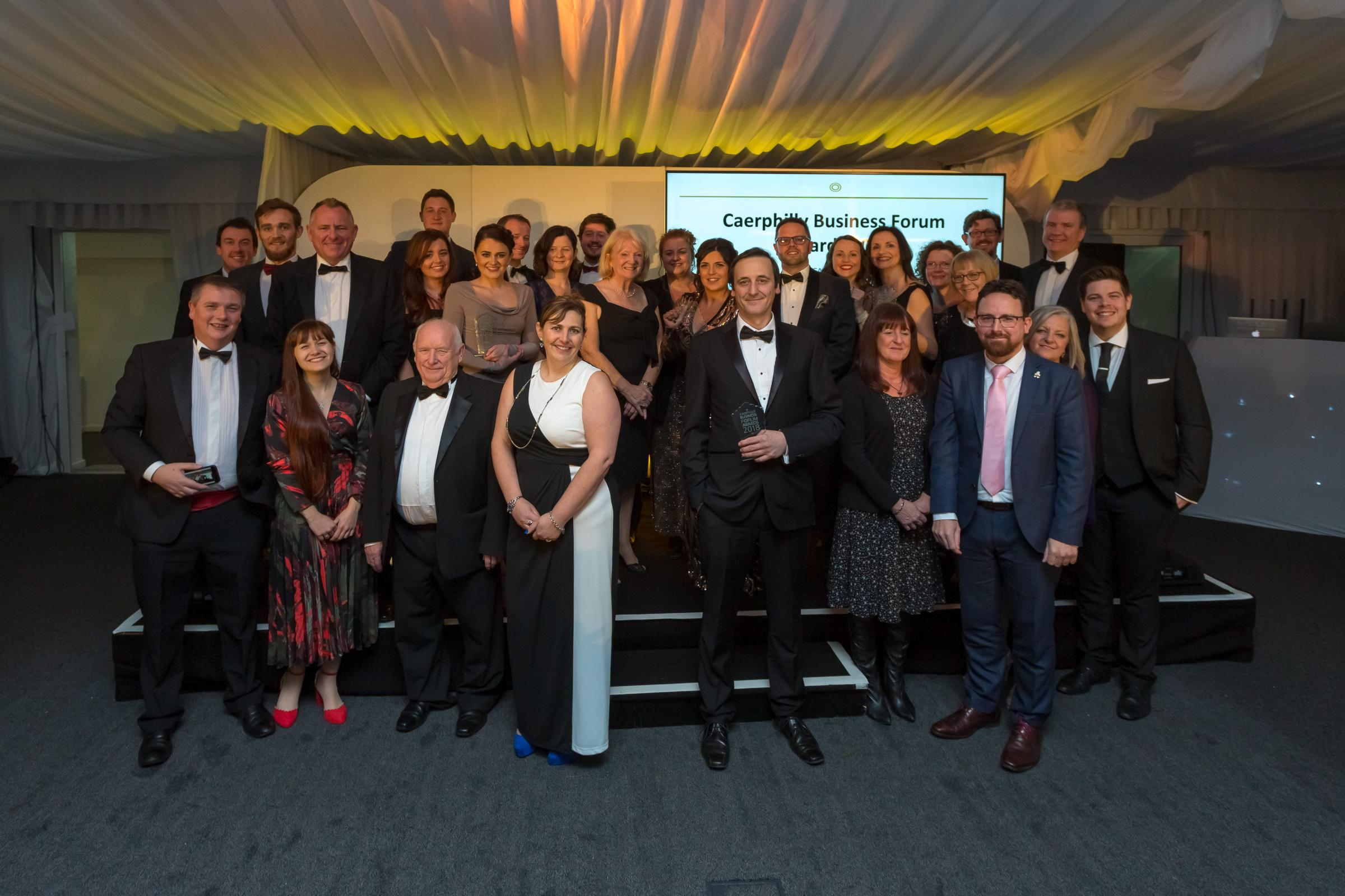 Caerphilly Business Forum award winners