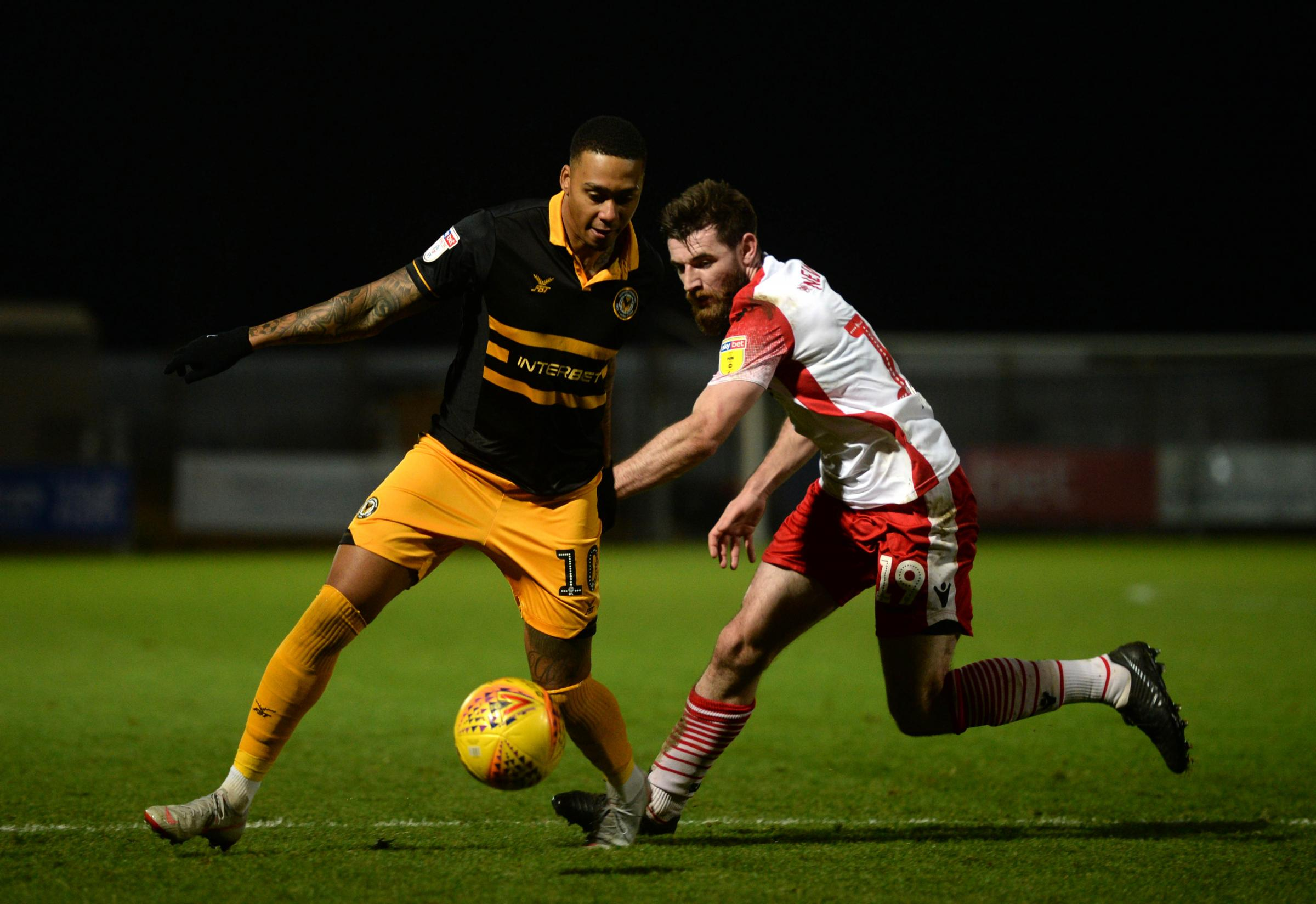 EXCITED: Newport County winger Keanu Marsh-Brown is looking forward to representing Guyana at this summer's Gold Cup
