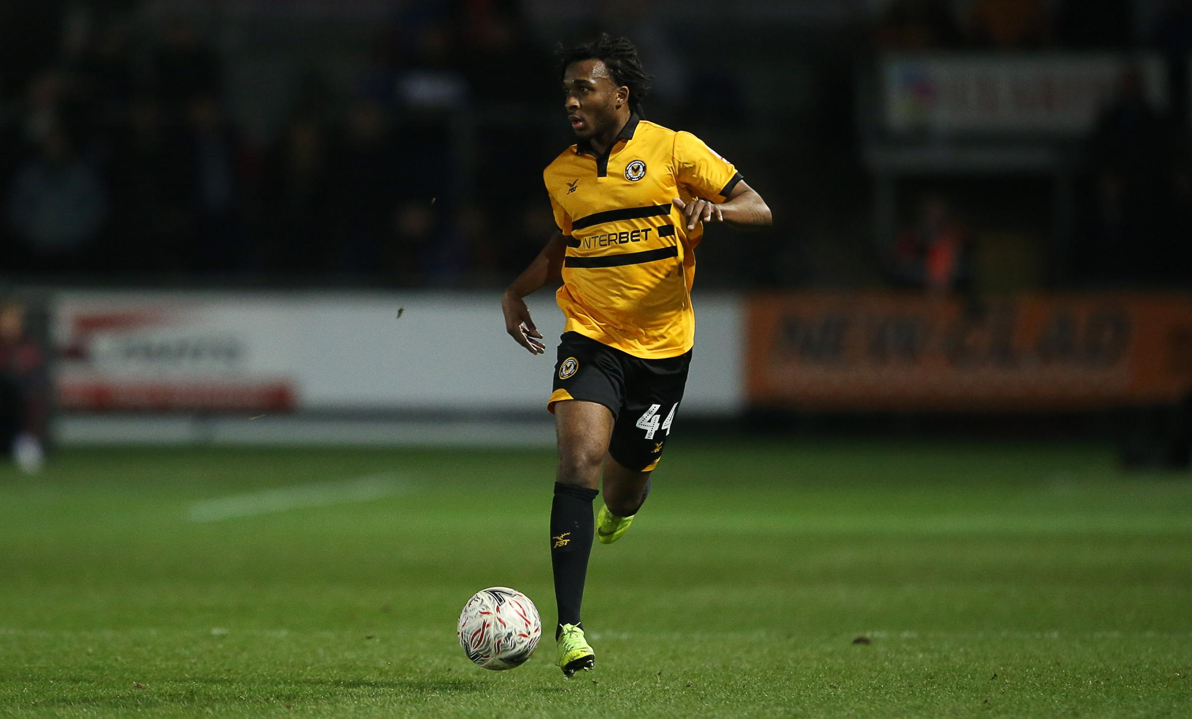 DEBUT: Vashon Neufville in action for Newport County against Leicester City in last week's FA Cup third-round tie