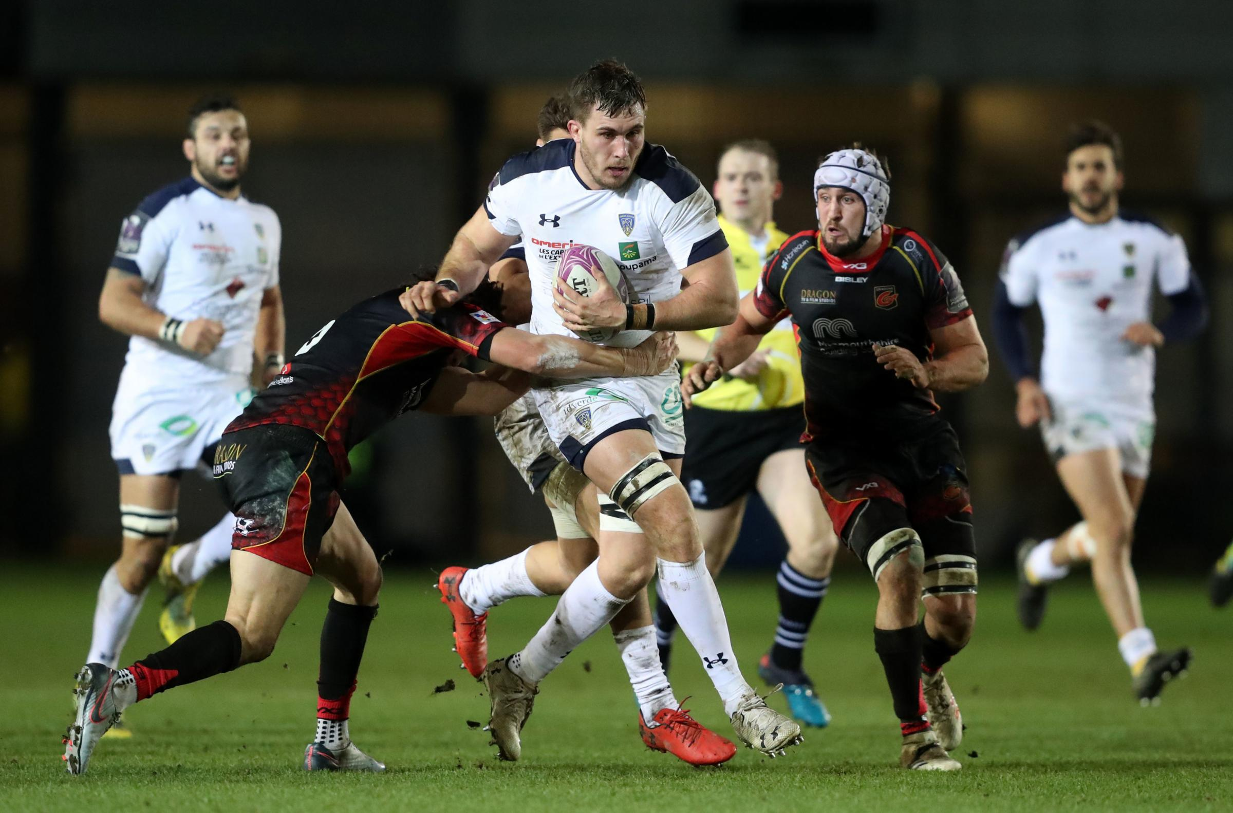 OVERPOWERED: Clermont ran amok against the Dragons in Newport