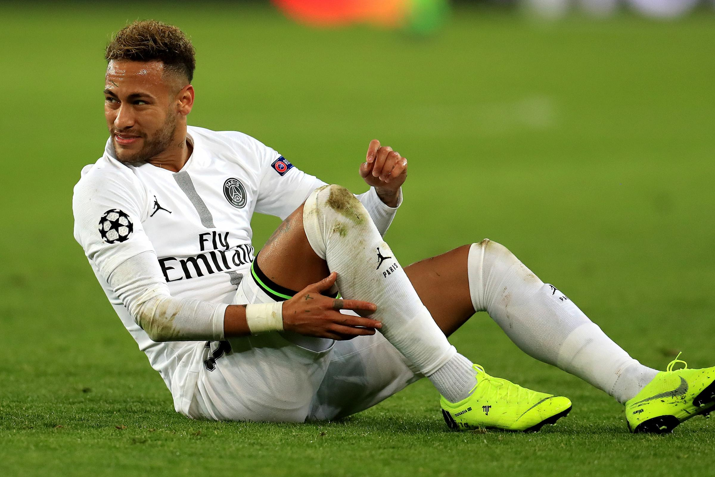 Neymar is recovering from a broken metatarsal and will miss both legs of Paris St Germain's Champions League tie against Manchester United