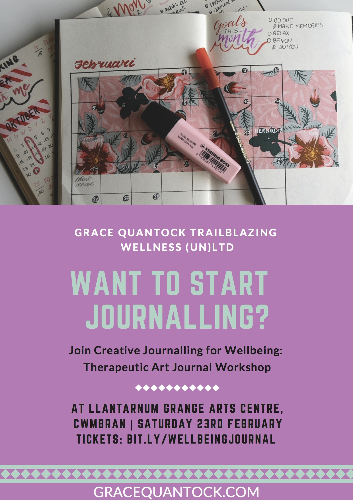 Creative Journalling for Wellbeing: Therapeutic Art Journal Workshop