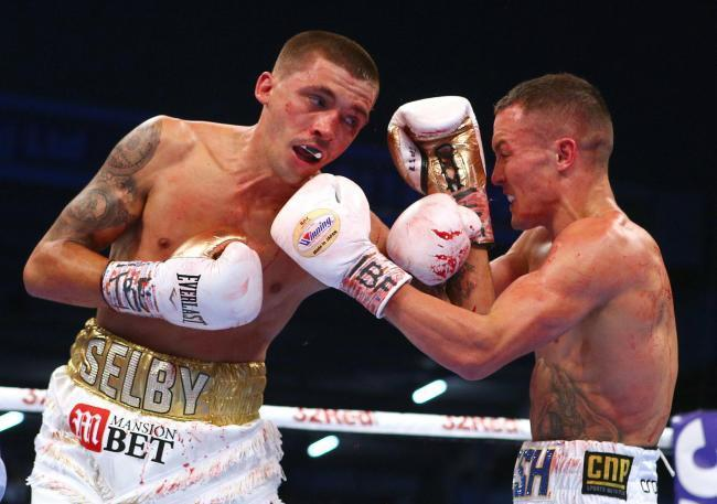 COMEBACK: Lee Selby, left, now fights at lightweight