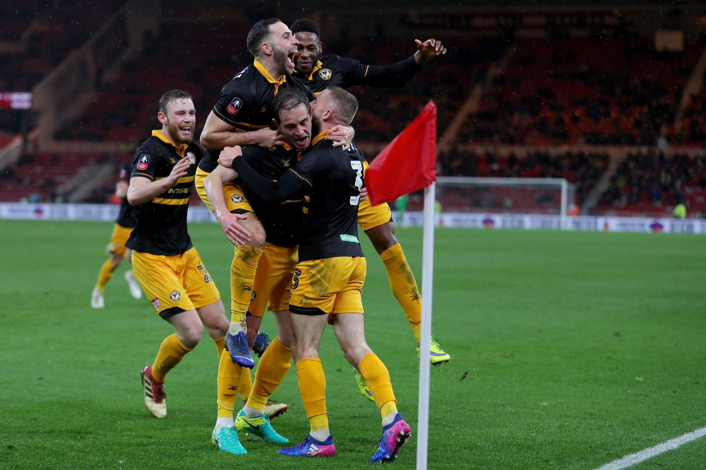 MASSIVE: Newport County go for FA Cup glory again when they take on Middlesbrough tonight