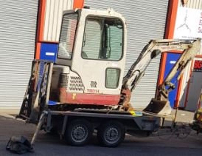 PICTURED: The stolen digger is worth £8,500