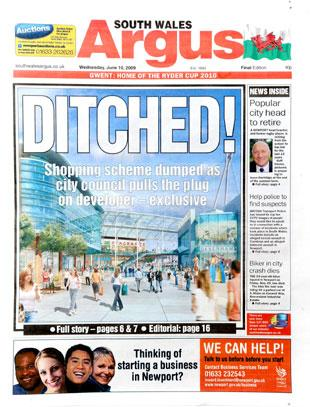 EXCLUSIVE: The Argus front page from yesterday