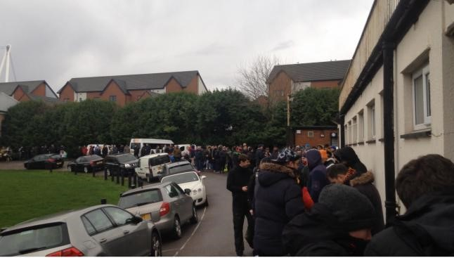 Hundreds of Newport County fans queuing for Man City FA Cup tickets