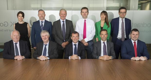 South Wales Argus: Members of the Cardiff Capital Region City Deal with first minister Mark Drakeford (front row, second from left), Secretary of State for Wales Alun Cairns (front row, centre) and Welsh economy and transport minister Ken Skates (front, second from right). Picture: Huw John Agency