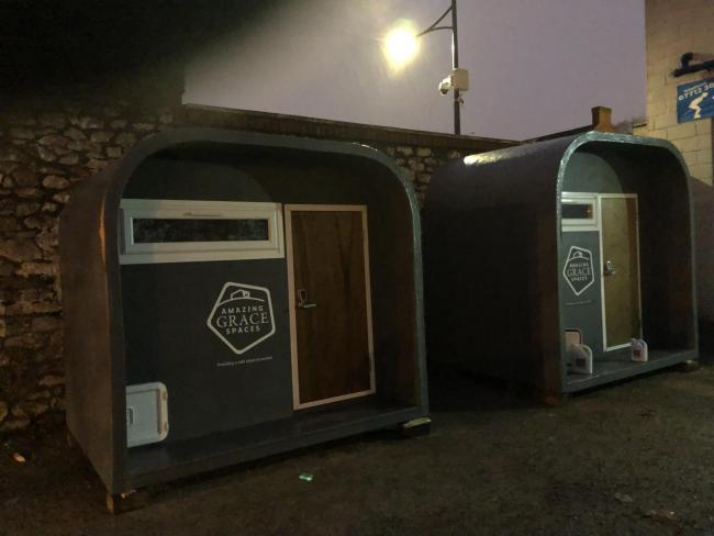 IN USE: Pods for the homeless in Newport