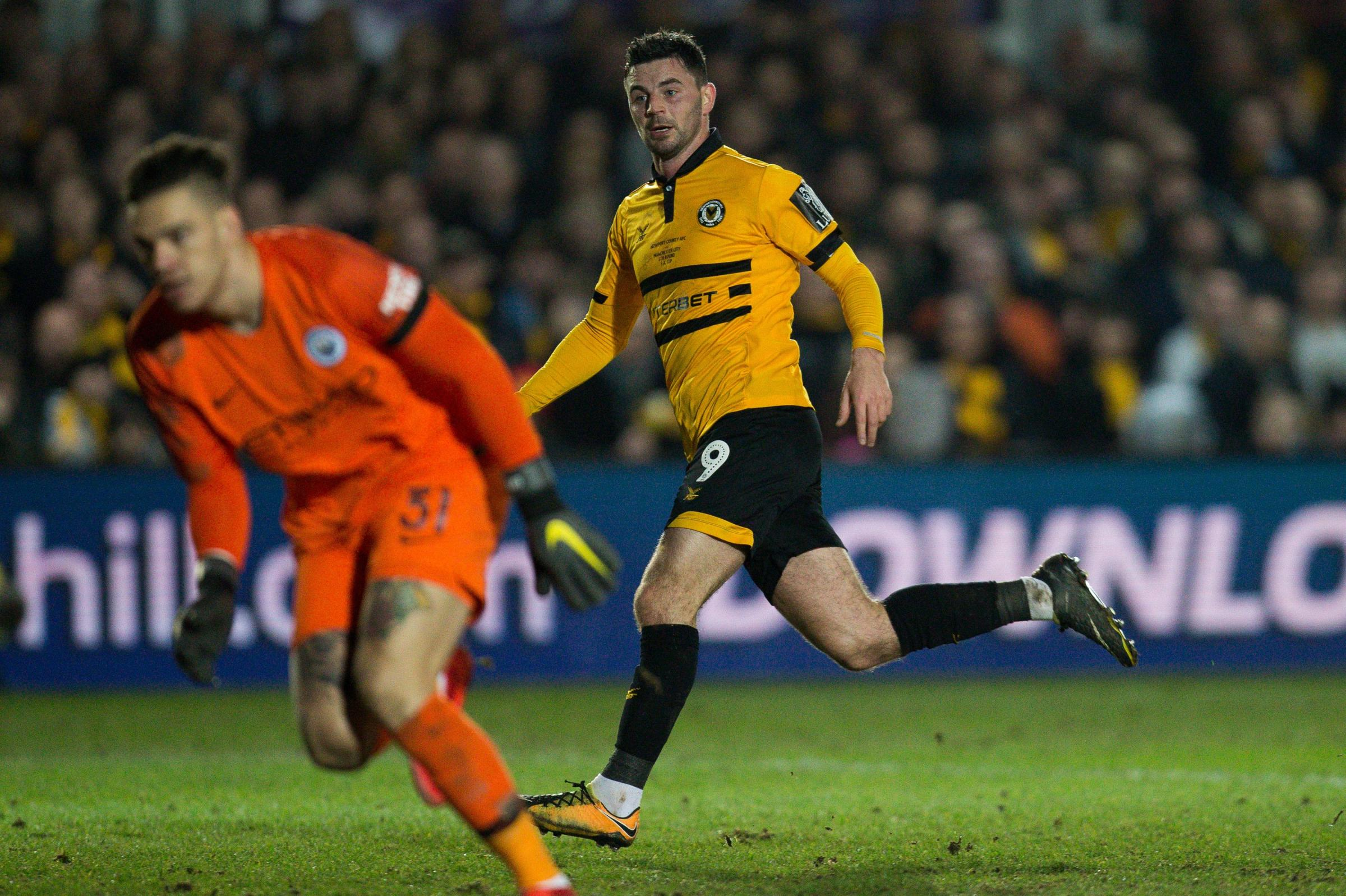 STAR: County ace Padraig Amond scored against Manchester City