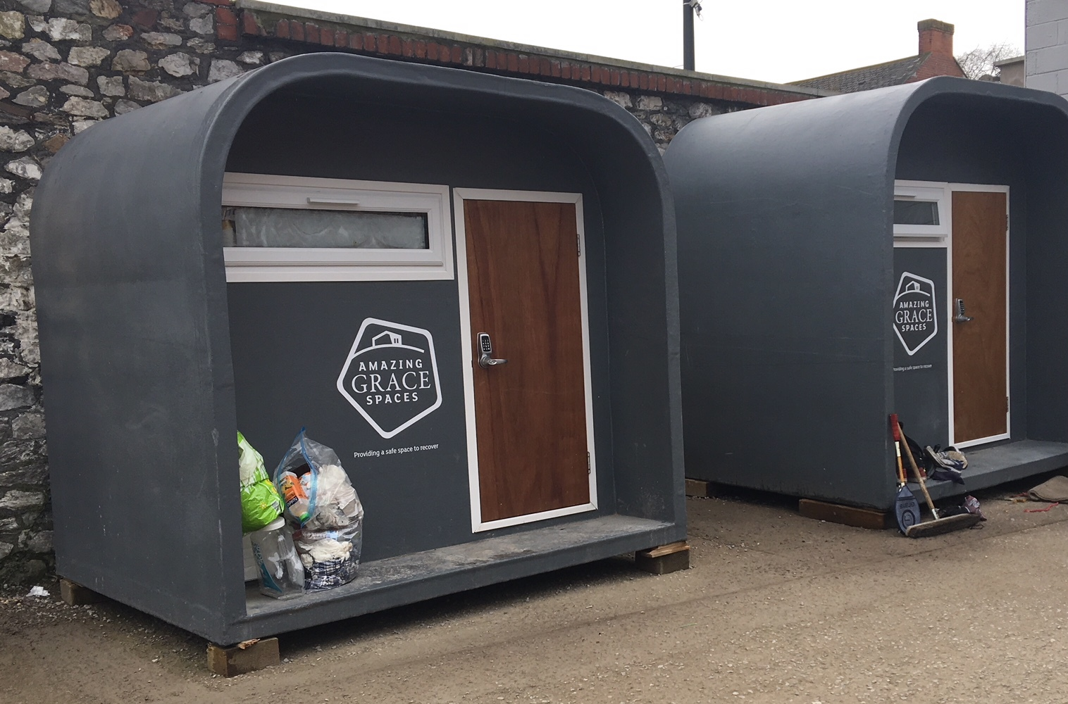 OCCUPIED: Homeless pods in Newport are in use