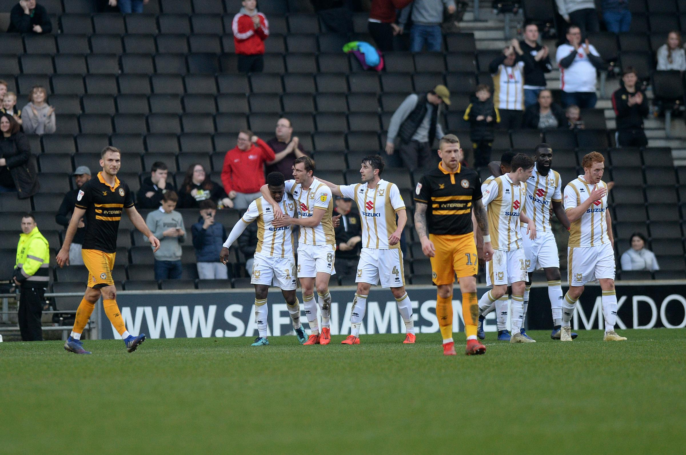 DEFEAT: Newport County were beaten 2-0 at MK Dons on Saturday. Pictures: Huw Evans Agency