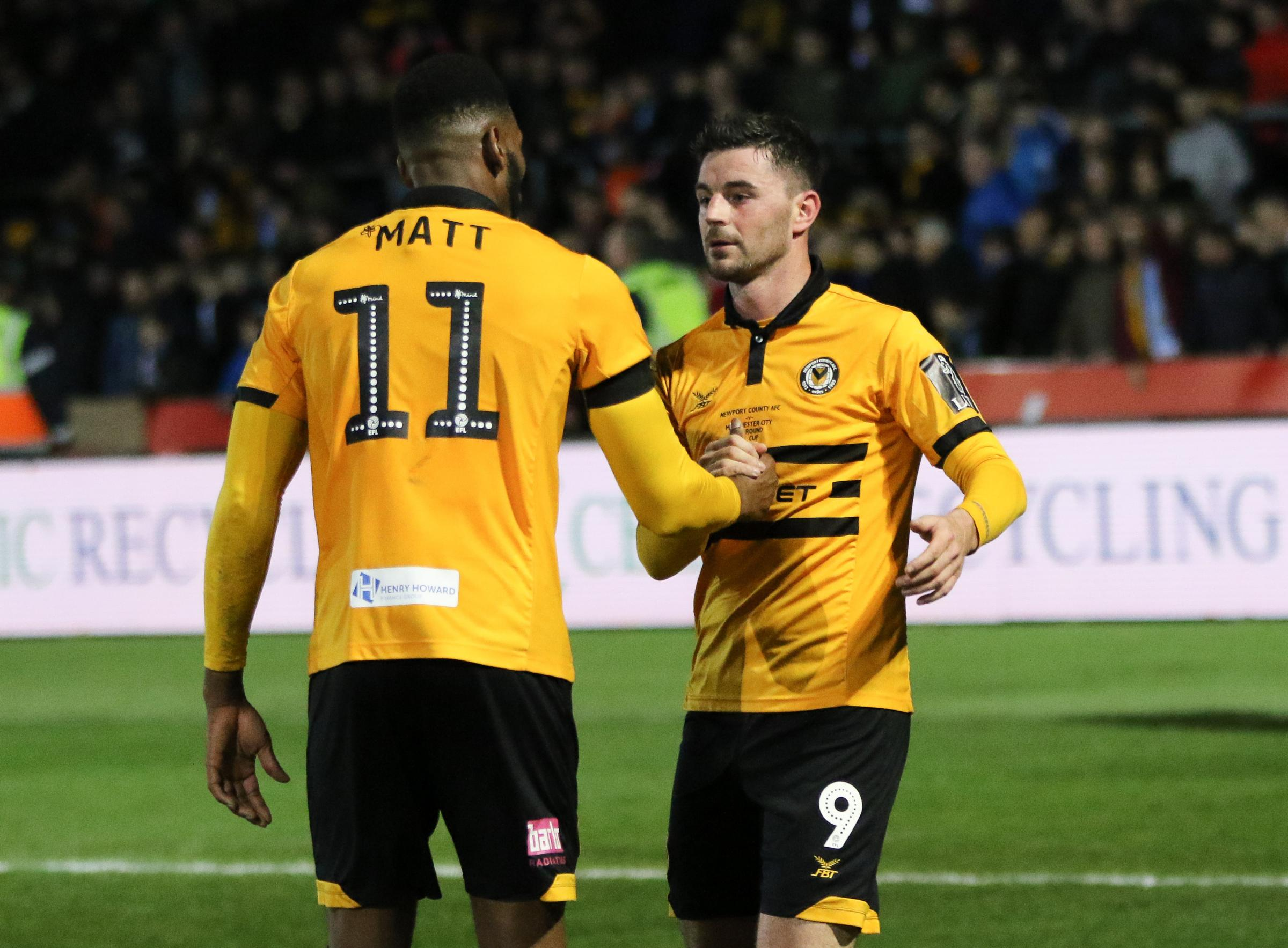 PARTNERSHIP: Padraig Amond and Jamille Matt have scored 37 goals between them this season