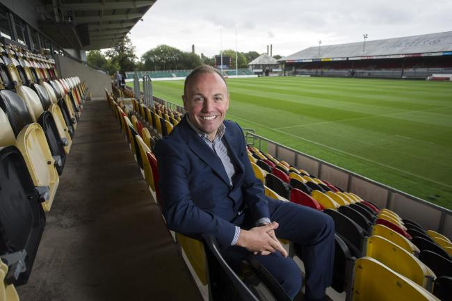 RESTLESS: Dragons chairman David Buttress wants to get cracking with the Rodney Parade redevelopment