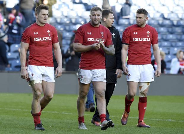 South Wales Argus: RELIEF: Ross Moriarty and Wales withstood late Scottish pressure