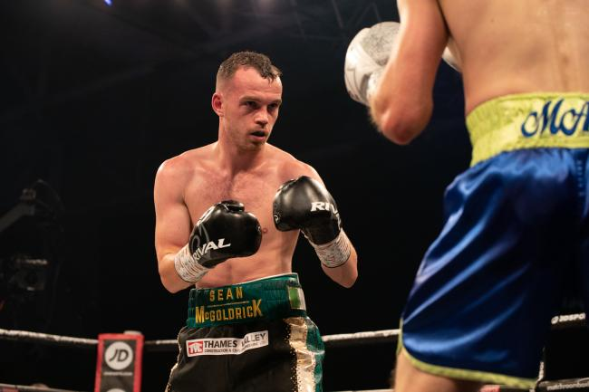 NEW CHAPTER: Sean McGoldrick fights for the first time in nearly eight months on March 23. Pic: www.liamhartery.com
