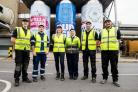 Jessica Morden visited Magor brewery to meet apprentices