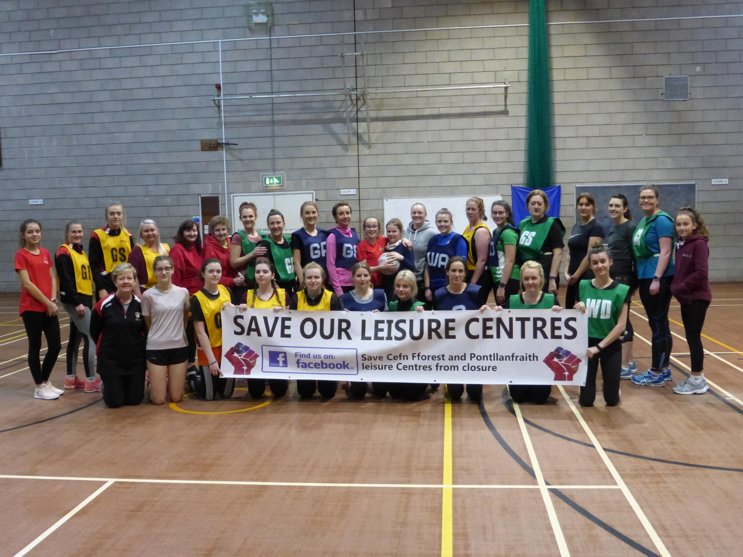 Support: The campaign to save Pontllanfraith and Cefn Fforest Leisure Centres is gathering momentum