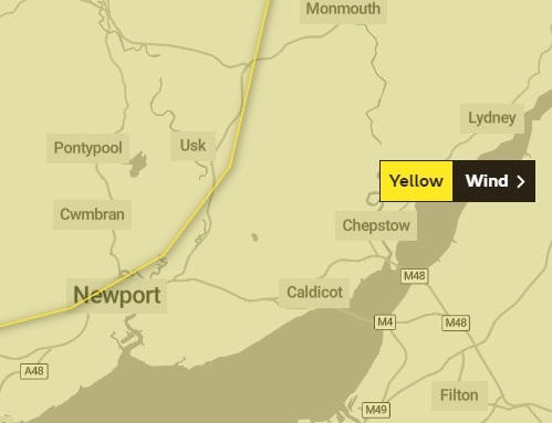 Weather warning issued for strong winds and heavy rain tomorrow