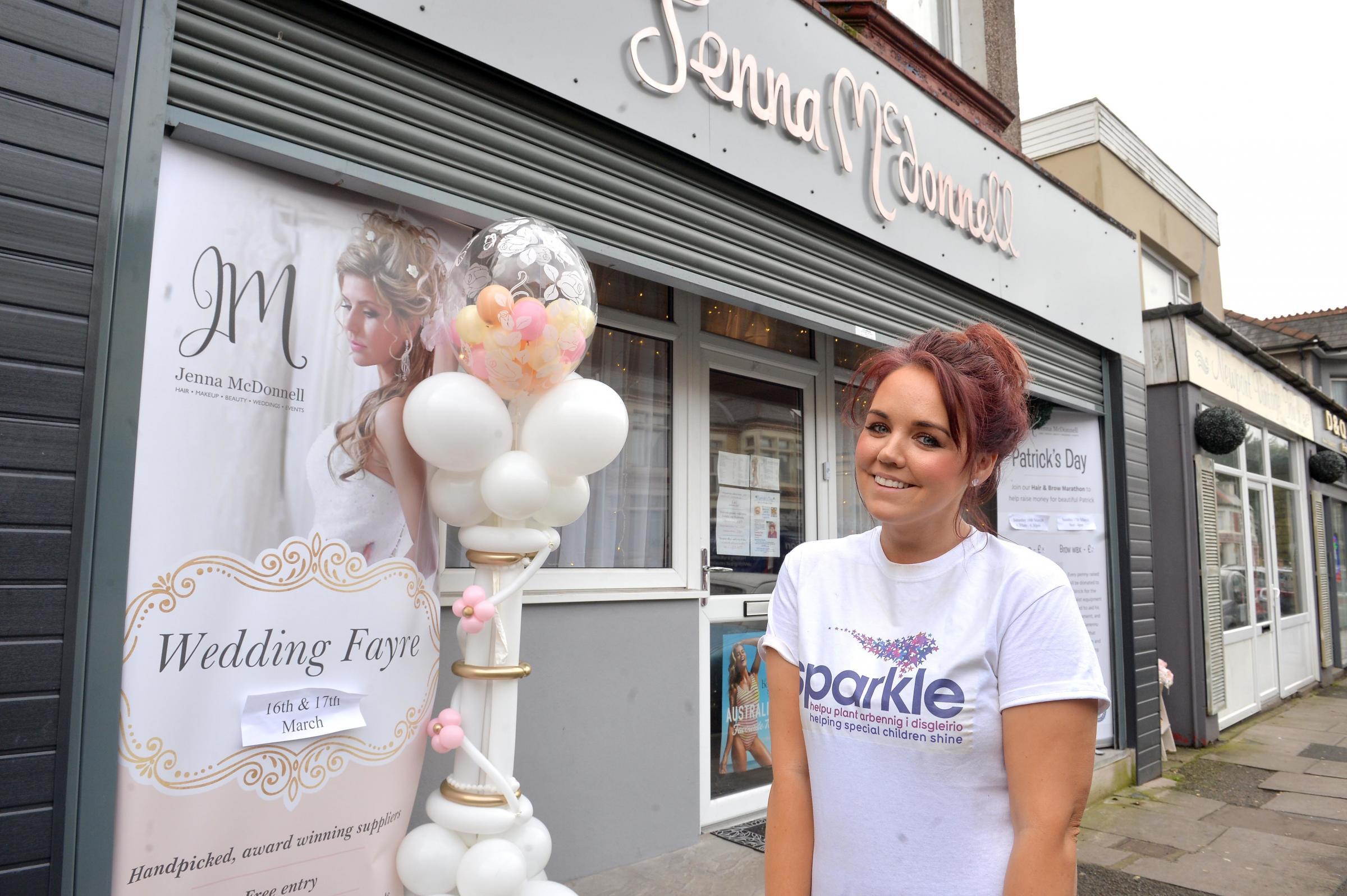 Jenna McDonnell's hair marathon raises thousands for Patrick Pullen and the Sparkle Appeal