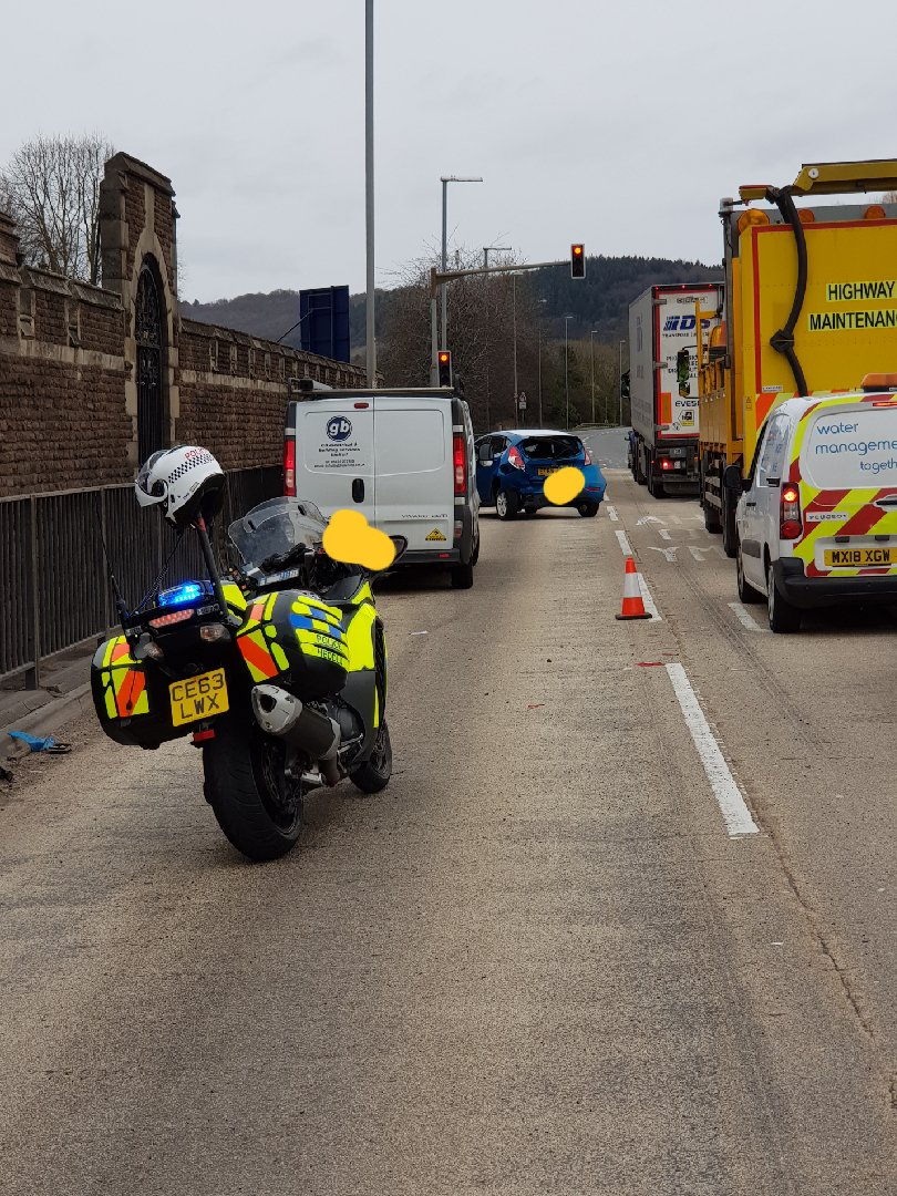Driver arrested after failing breath test following A40 collision near Monmouth