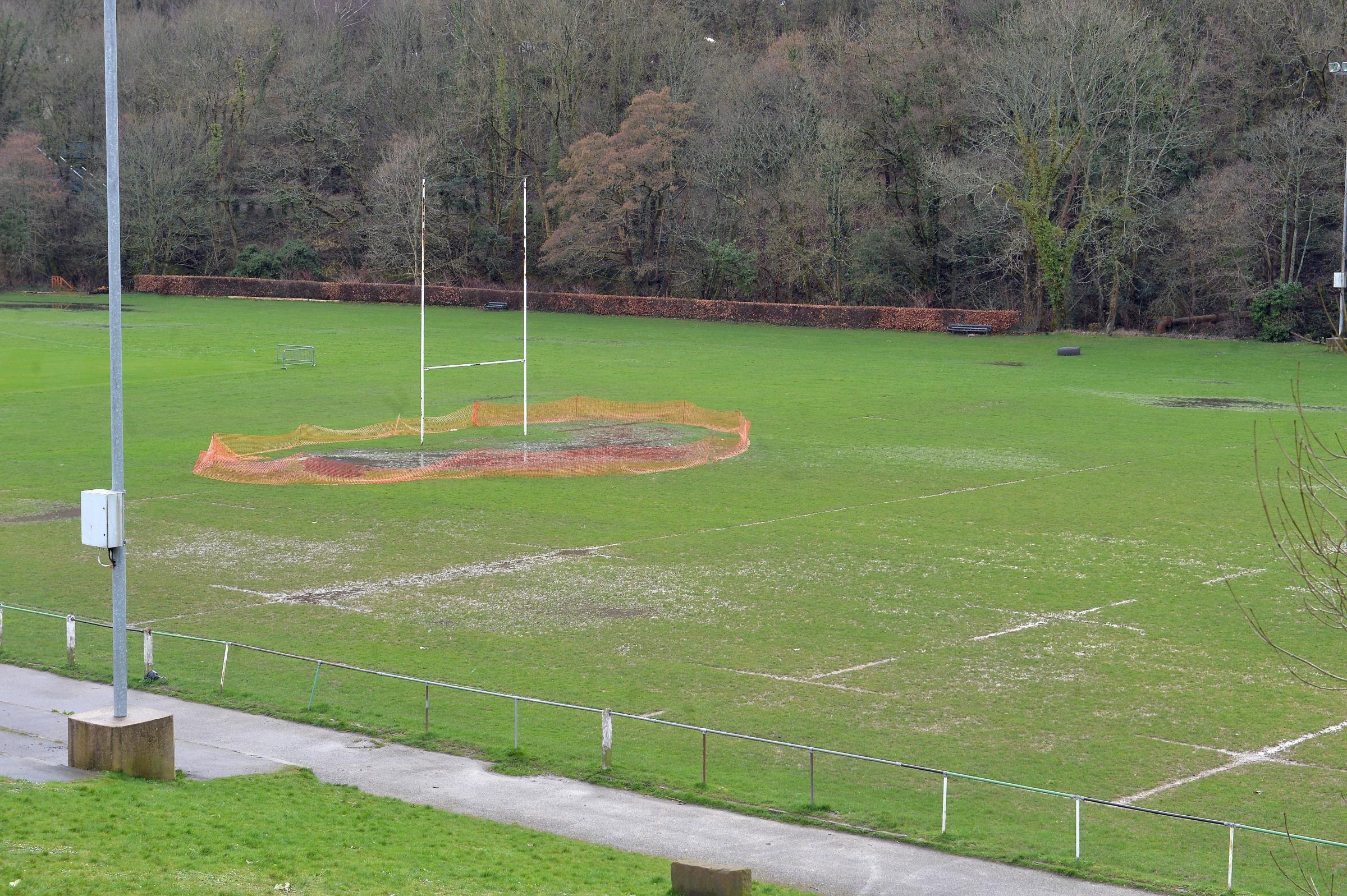 Abercarn RFC left 'embarrassed' as fixtures cancelled after pitch flooded with sewerage