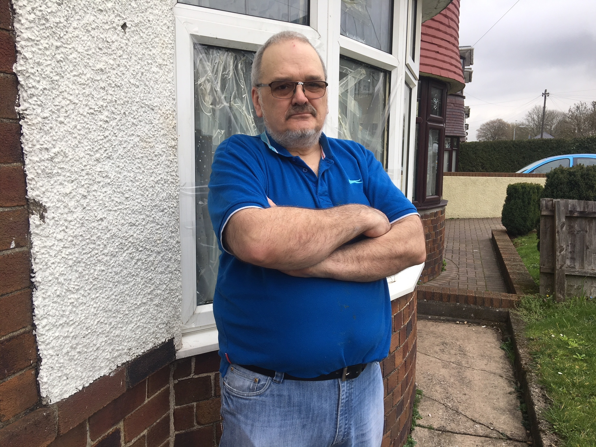 A Newport man who has had his motorhome destroyed and dog mess thrown at him by vandals is demanding immediate action