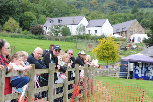 Visitors enjoy a horticultural show held at Cwmbran's Greenmeadow Community Farm