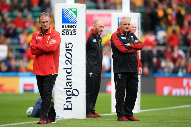TRUSTED TEAM: Warren Gatland with Rob Howley, Robin McBryde and Neil Jenkins