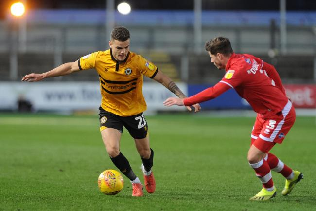LOAN: Newport County defender Tyler Forbes has joined Salford City on loan