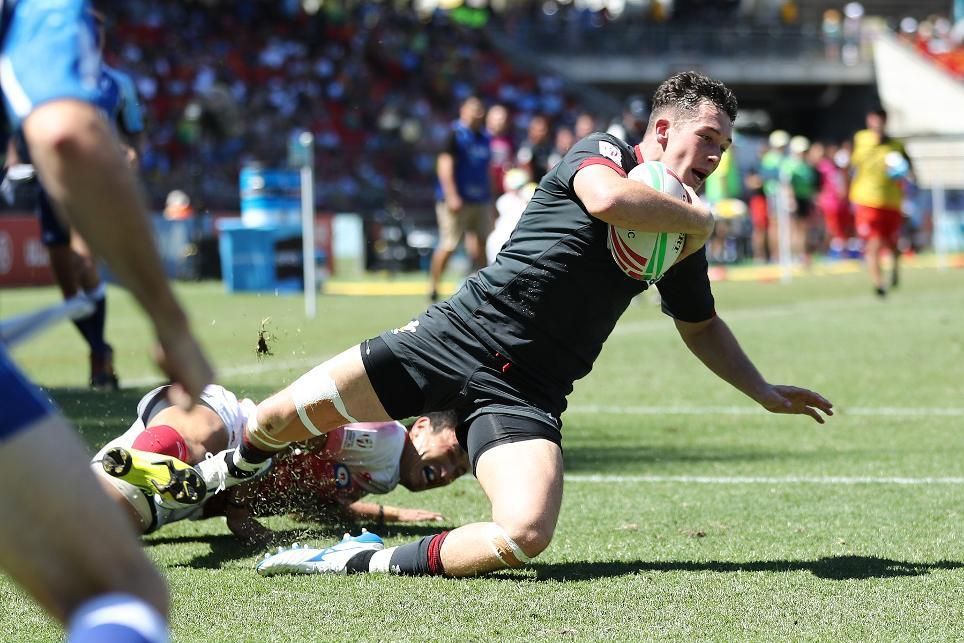 SEVENS HEAVEN: Dragons winger Joe Goodchild in action for Wales (Picture: WORLD RUGBY)