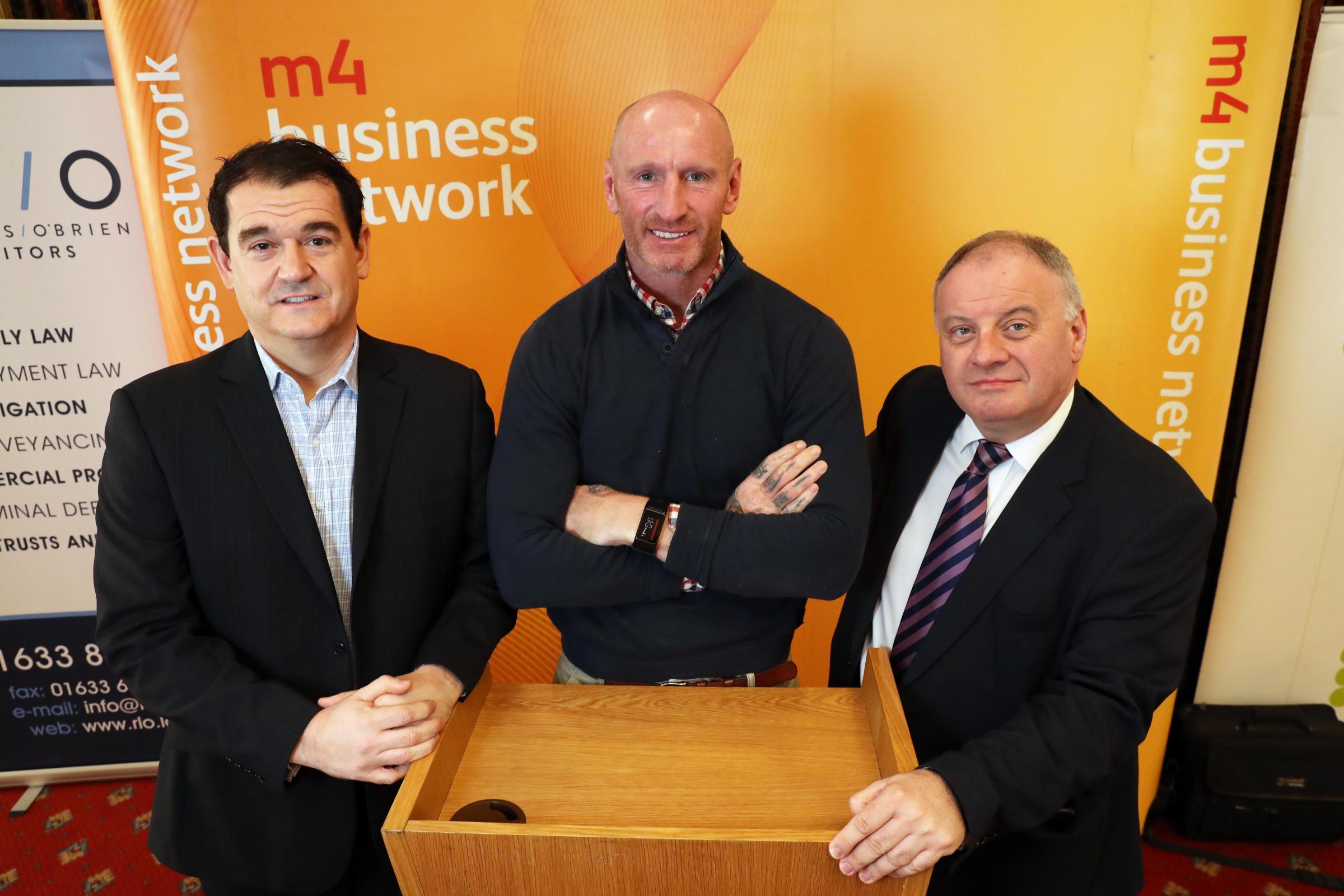 Alfie shares his inspirational story with the M4 Business Network
