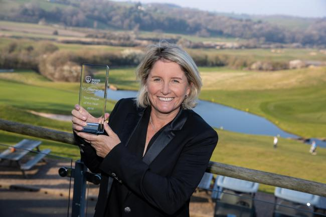 PATIENCE PAYS OFF: Wales Golf Awards Tour Professional of the Year Becky Morgan. Pic: Steve Pope/Sportingwales