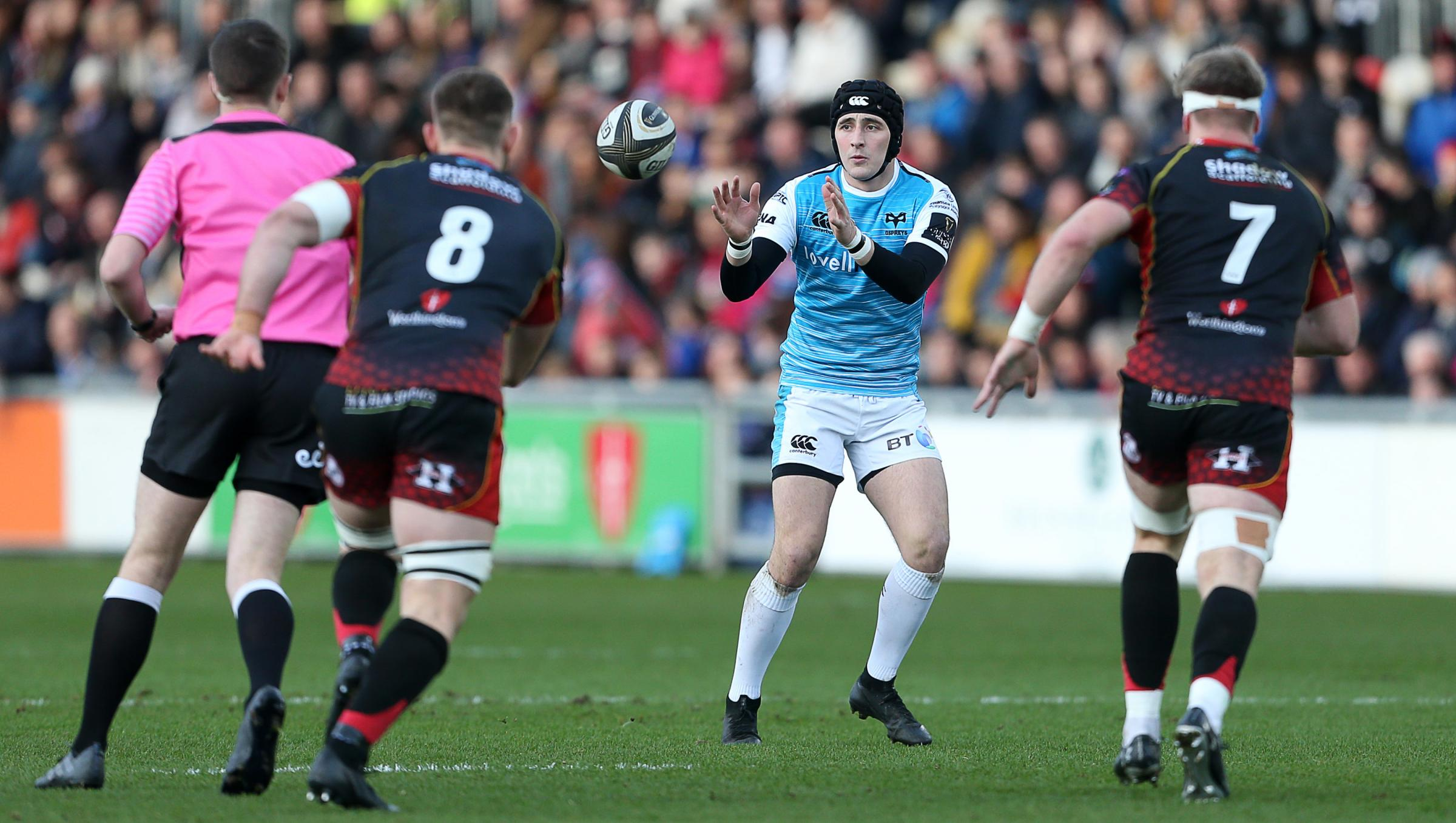 TARGET: The Dragons are interested in Ospreys fly-half Sam Davies