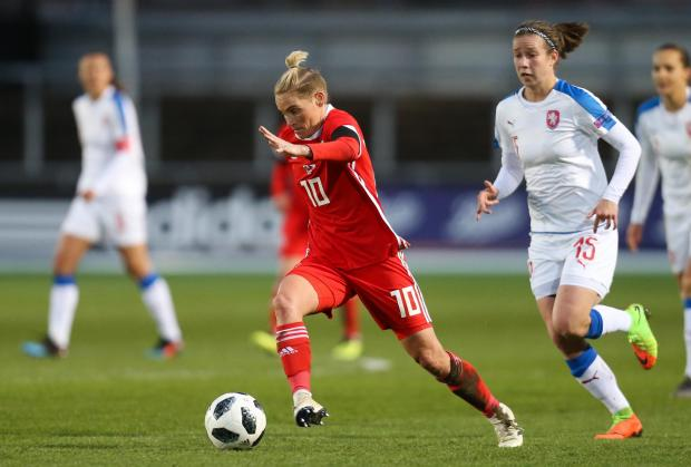 South Wales Argus: STAR: Jess Fishlock on the charge for Wales at Rodney Parade