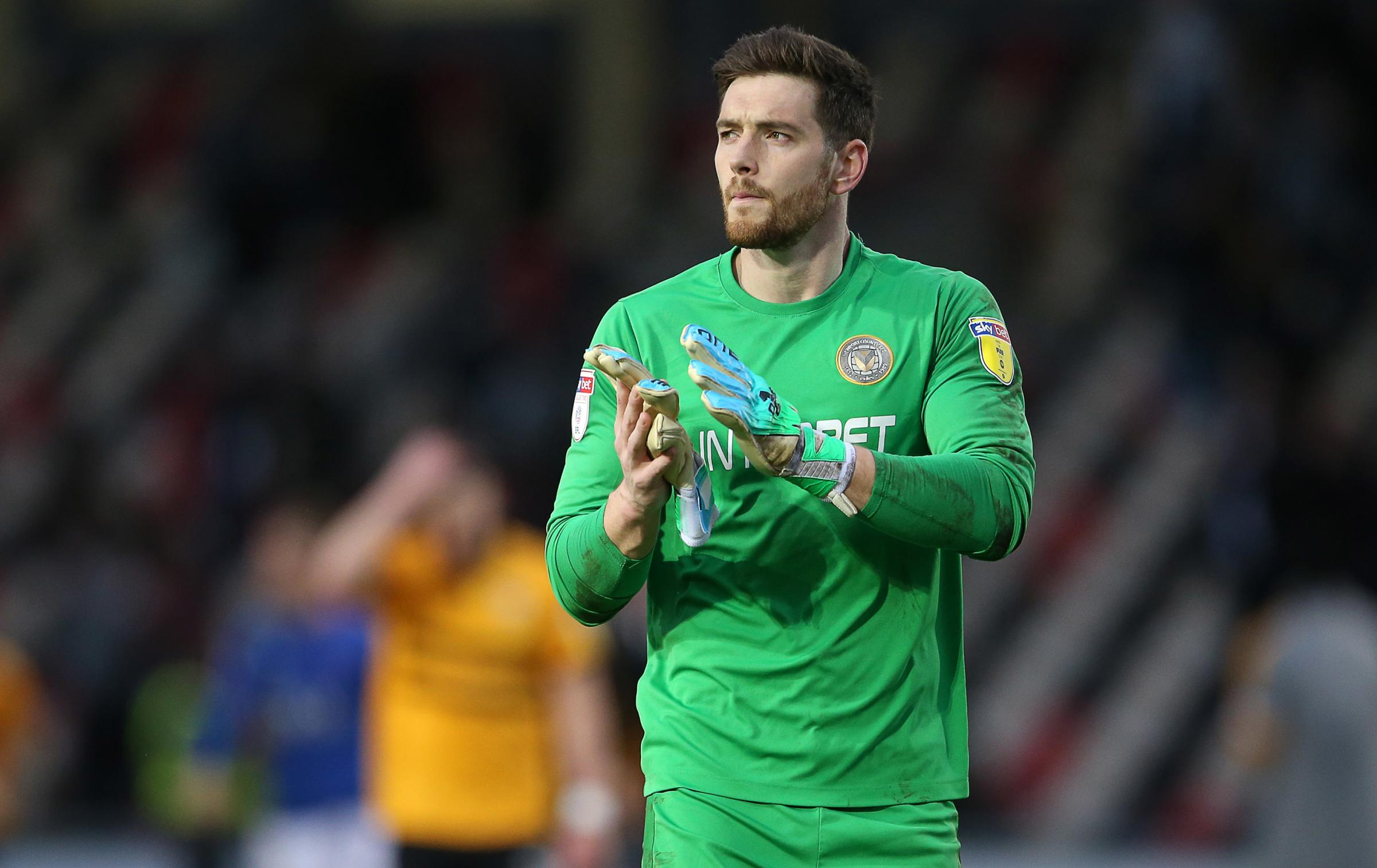 TALKS: League Two goalkeeper of the year Joe Day is one of 12 players out of contract at Newport County this summer