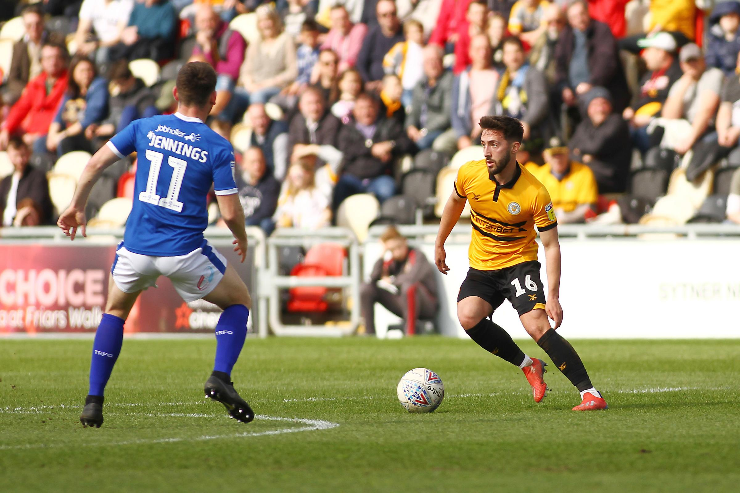 STALEMATE: Josh Sheehan in action for Newport County against Tranmere Rovers. Pictures: Huw Evans Agency