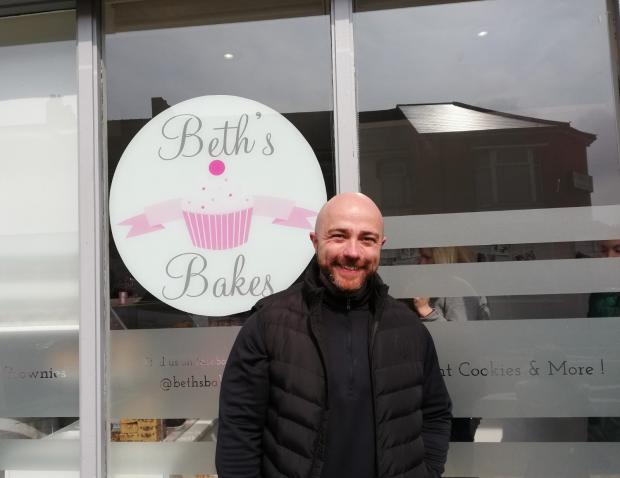 South Wales Argus: Beth's Bakes fan Nick Chard.