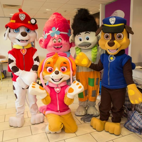 FUN: Characters from Paw Patrol and Trolls