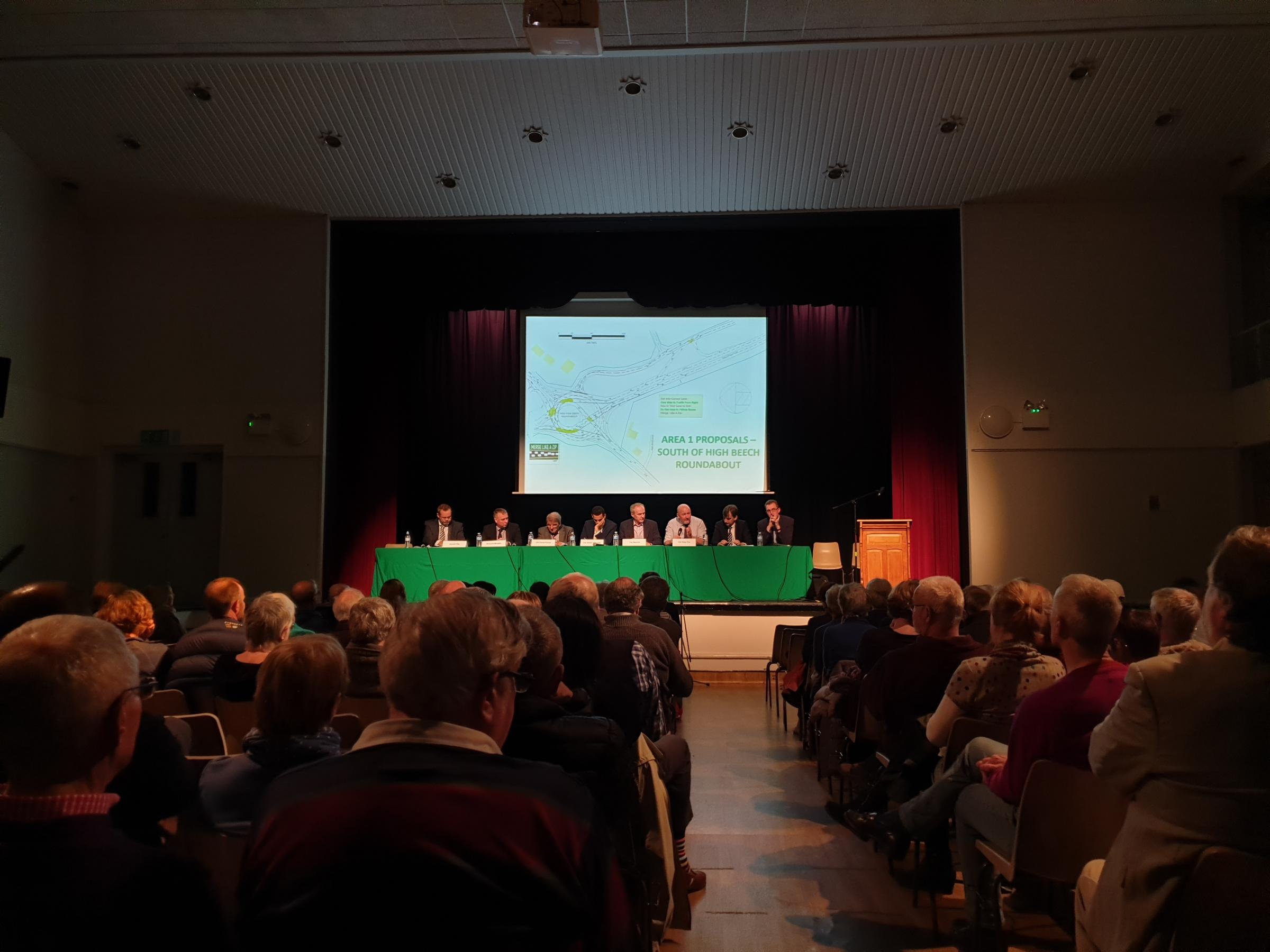 The Transition Chepstow-organised public meeting on traffic and congestion, held at Chepstow School on April 11.