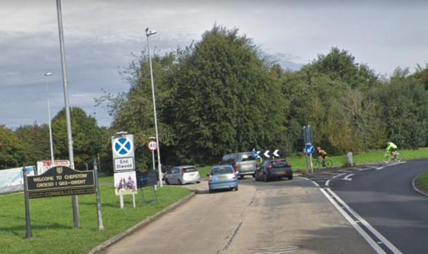 South Wales Argus: The approach to High Beech roundabout from the A466 northbound. Picture: Google