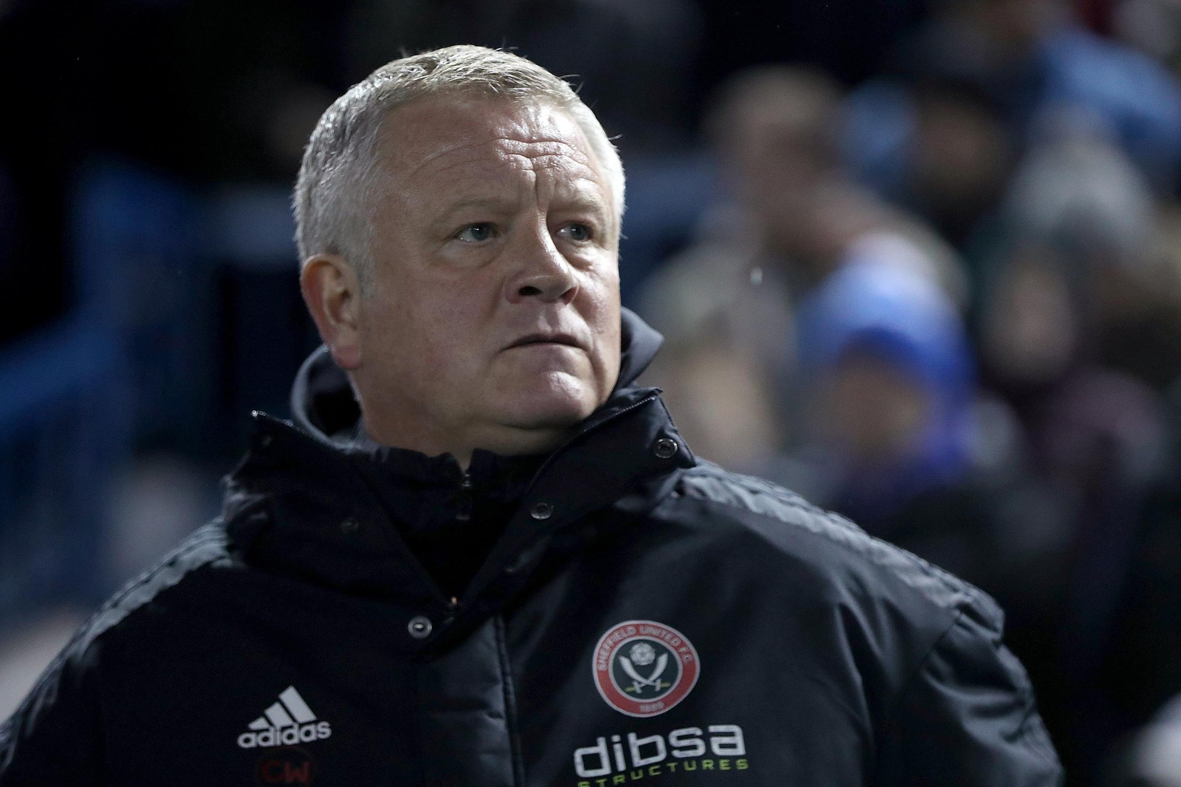 Chris Wilder has injury problems for the visit of Nottingham Forest