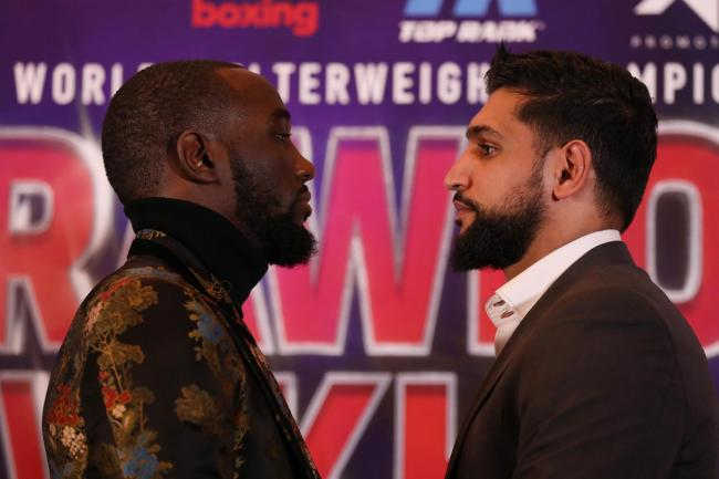 Terence Crawford, left, and Amir Khan go head to head in New York this weekend