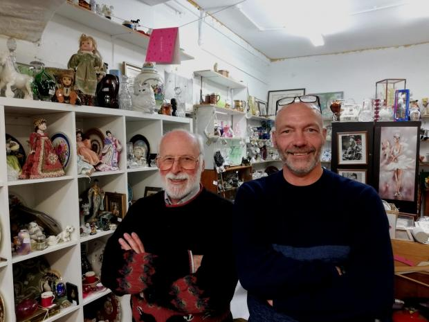 South Wales Argus: Ian Gregory (right) and John Blackwell in St Mary's Collectables, Chepstow.