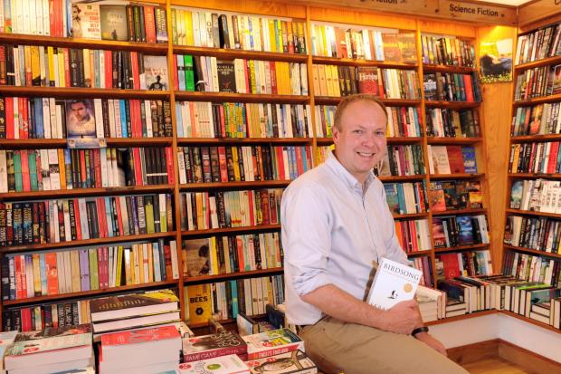 South Wales Argus: Matt Taylor, owner of Chepstow Books and Gifts. Picture: Mark Lewis